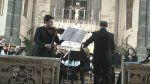 Con il violinista Giacomo Mirra e l'orchestra del Teatro Magiaro di Cluj-Napoca (Romania)